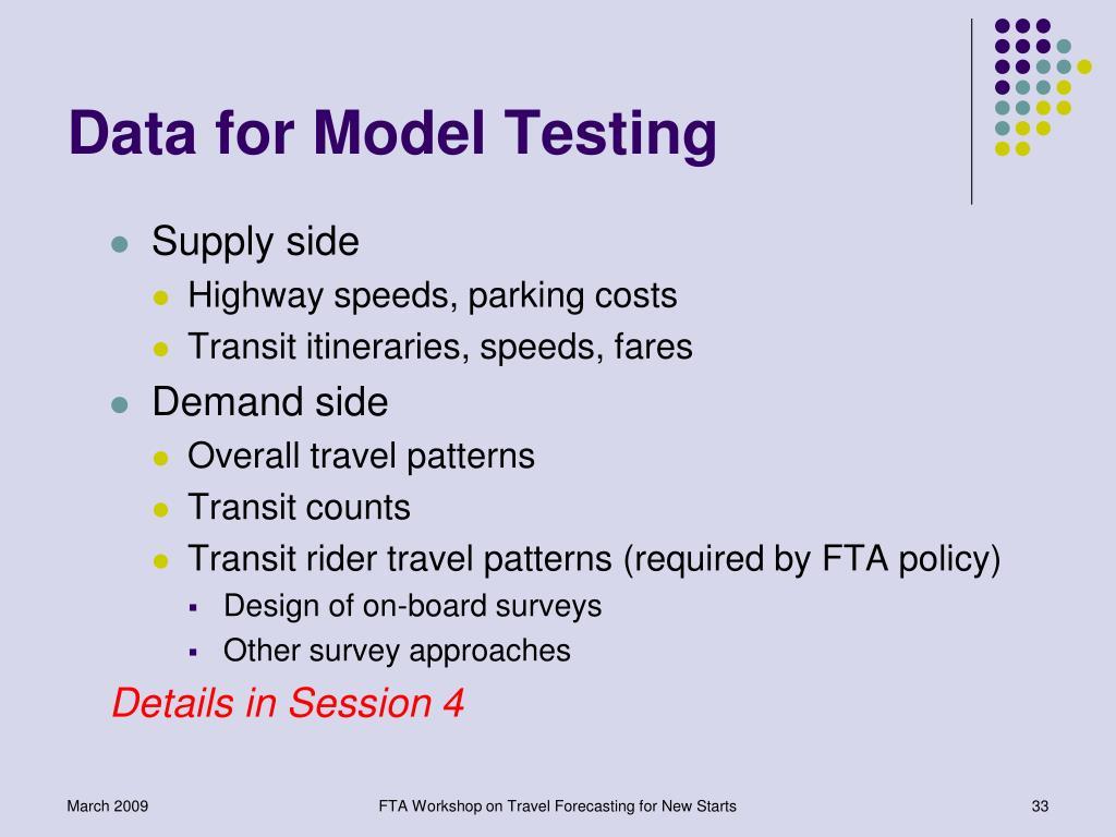 Data for Model Testing