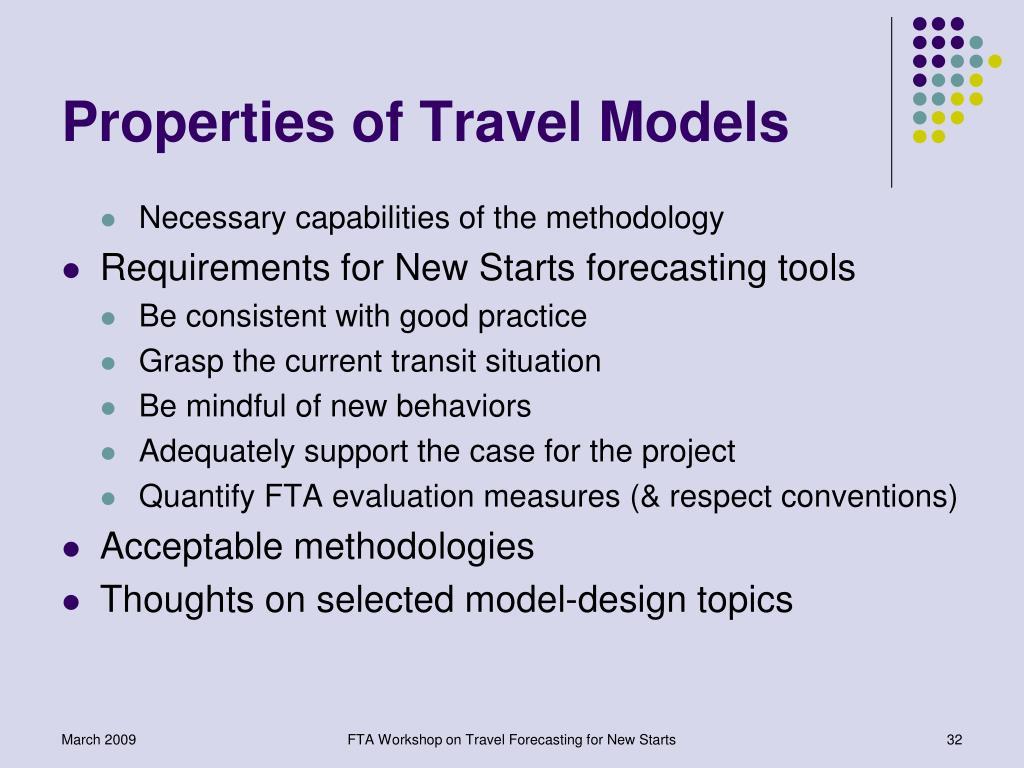 Properties of Travel Models