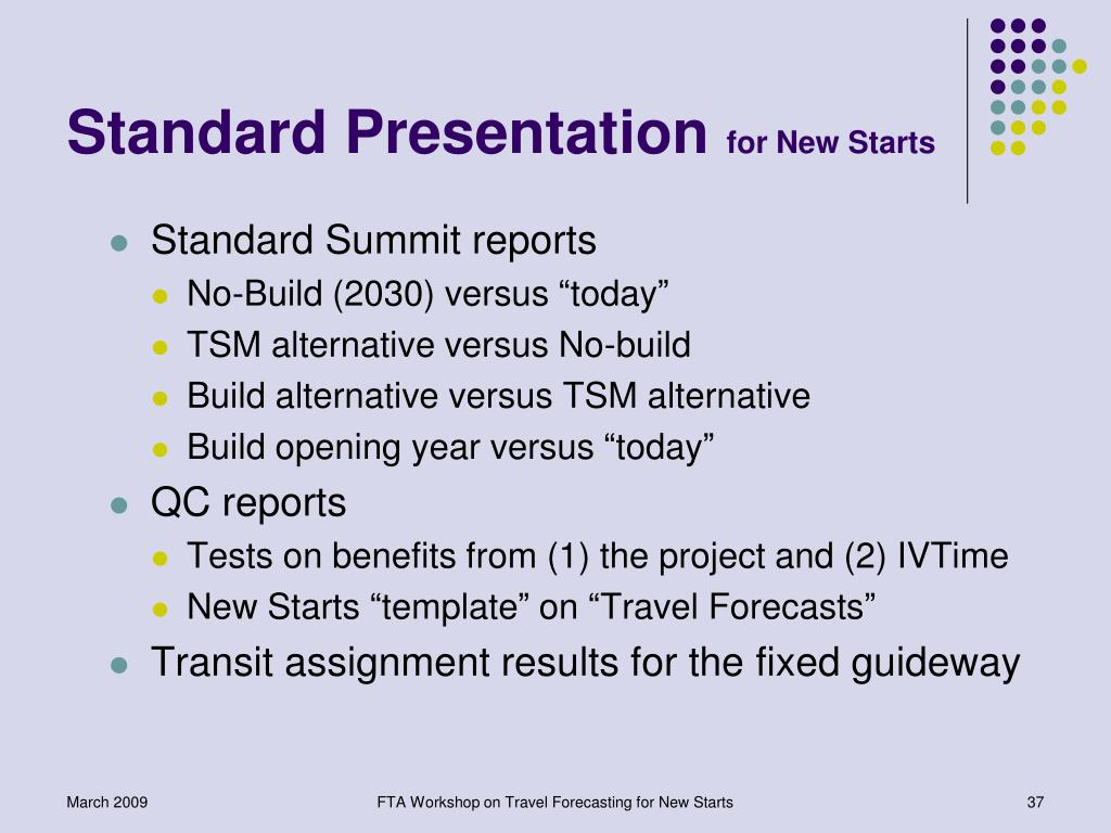 Standard Presentation