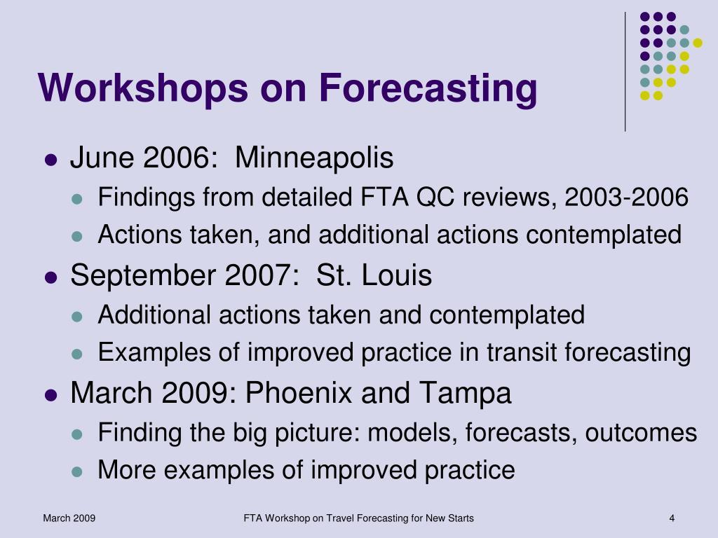 Workshops on Forecasting