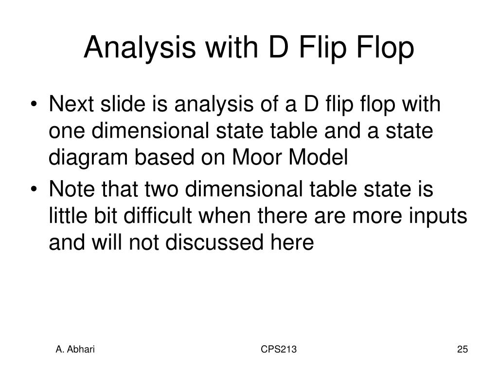 Analysis with D Flip Flop