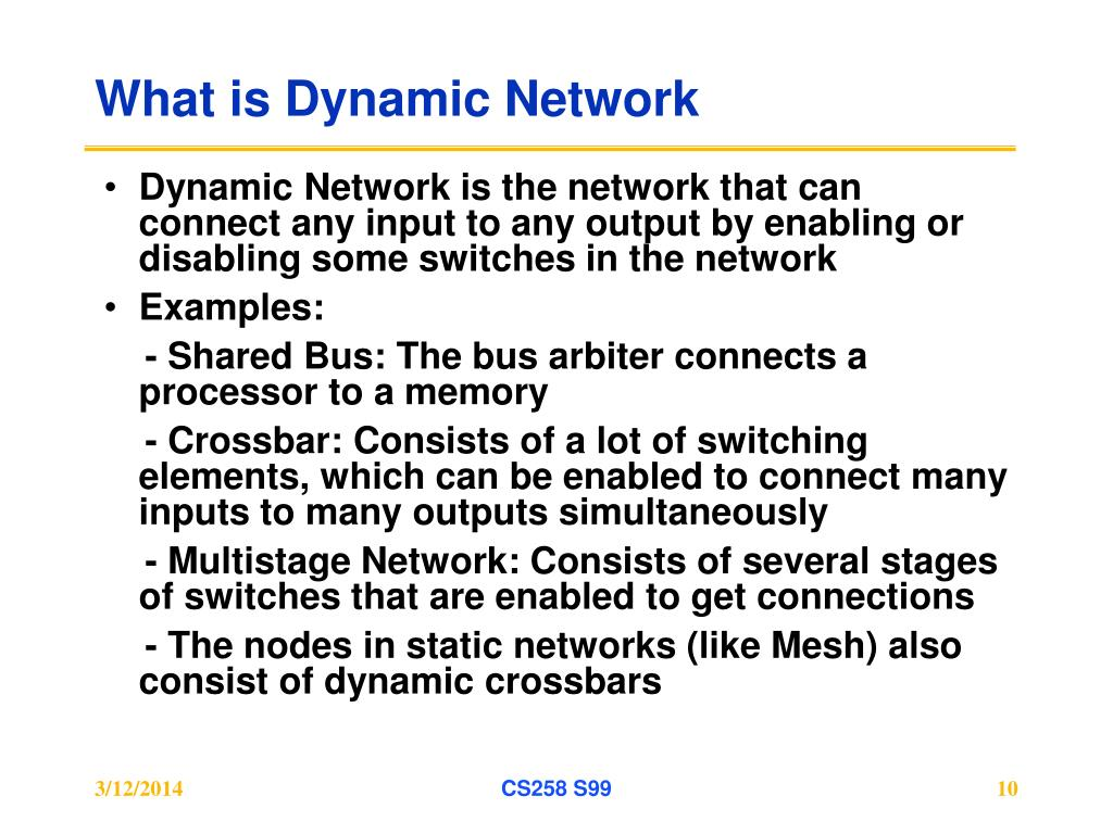 What is Dynamic Network