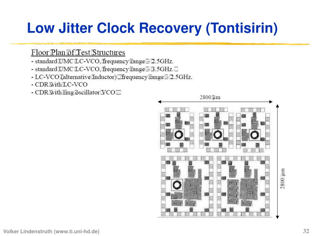 Low Jitter Clock Recovery (Tontisirin)