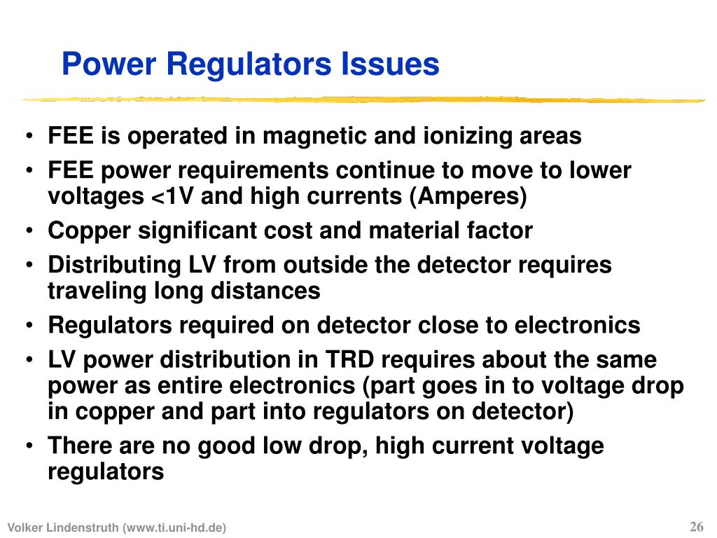 Power Regulators Issues