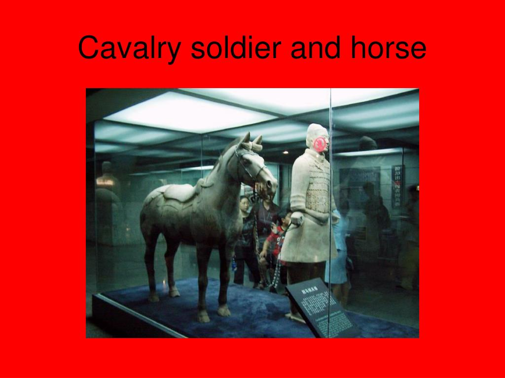 Cavalry soldier and horse