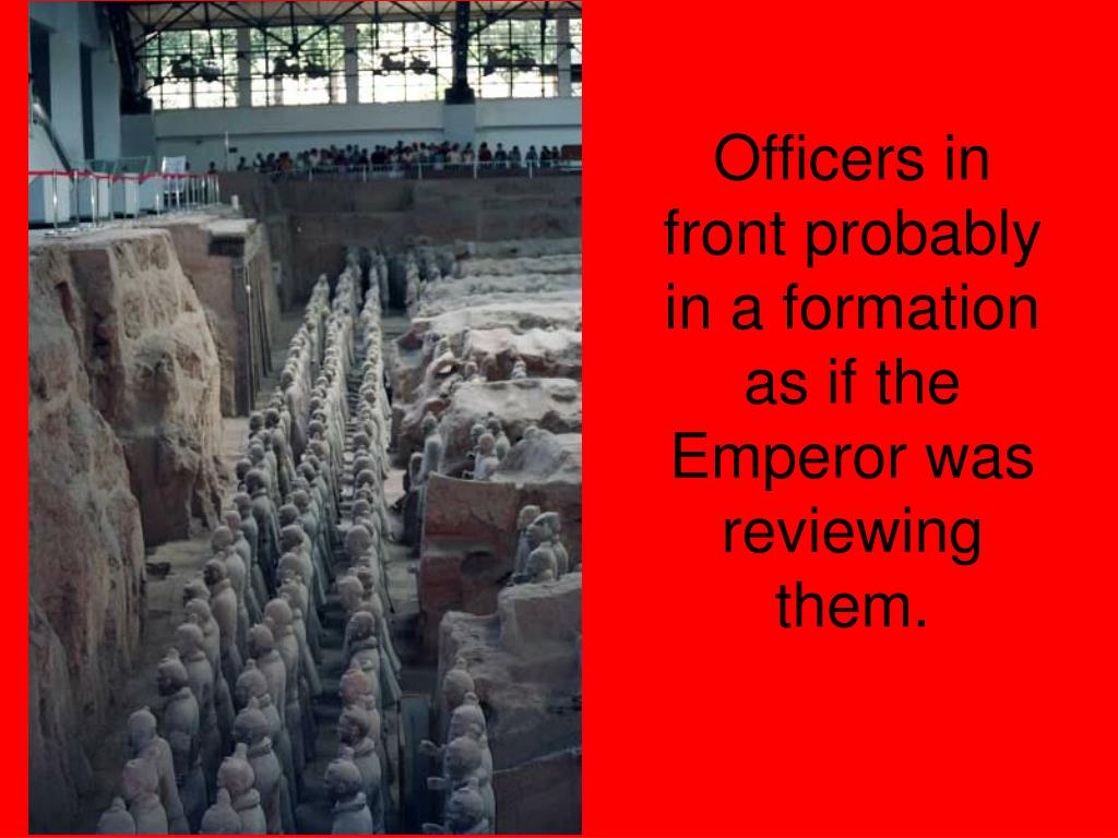 Officers in front probably in a formation as if the Emperor was reviewing them.