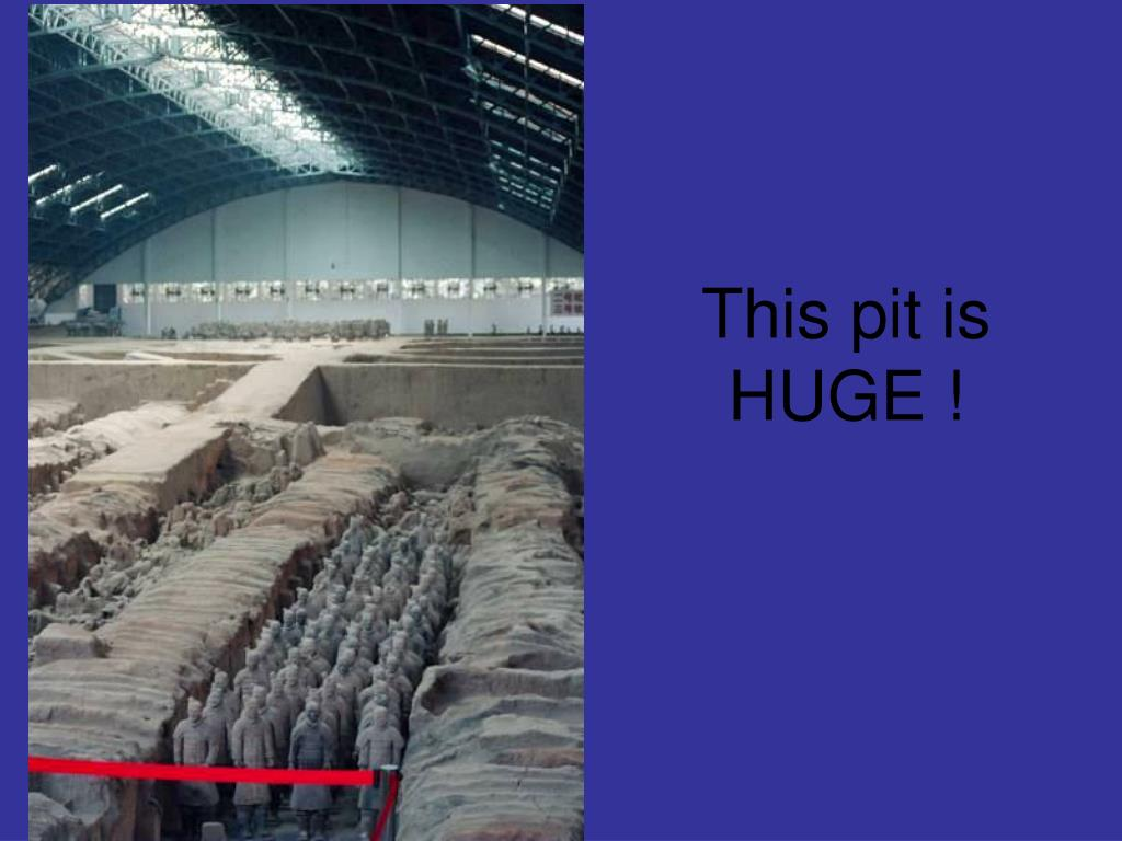 This pit is HUGE !
