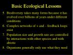 basic ecological lessons48