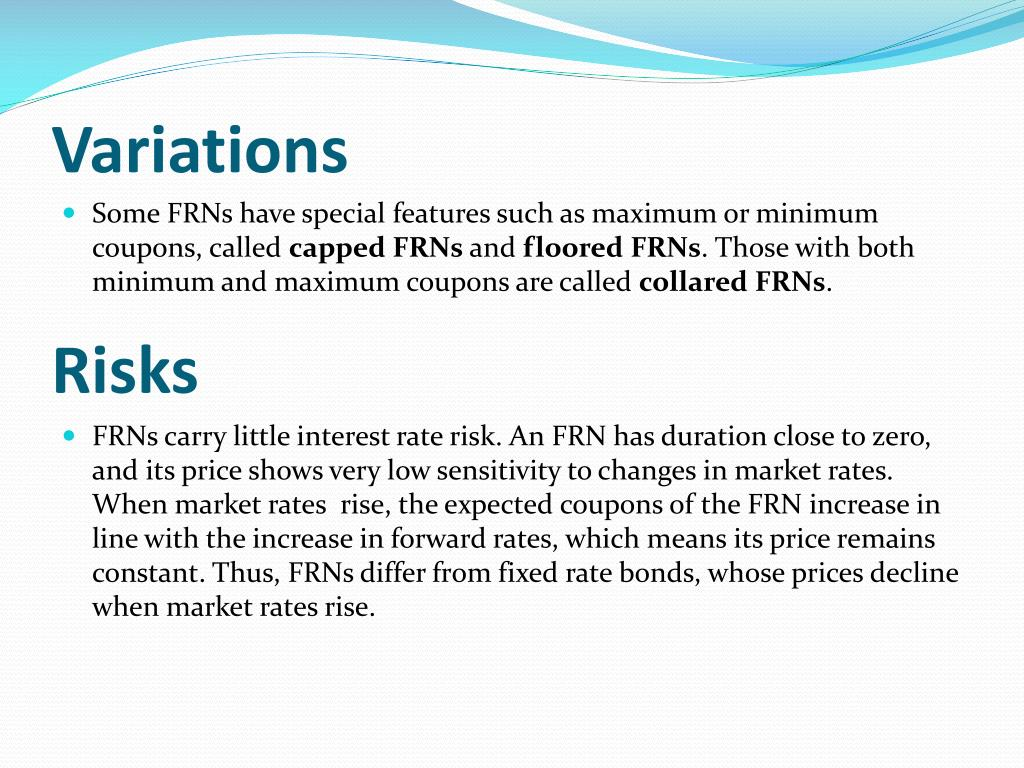 PPT - Valuing Floating Rate Notes (FRN) in Excel/VBA ...