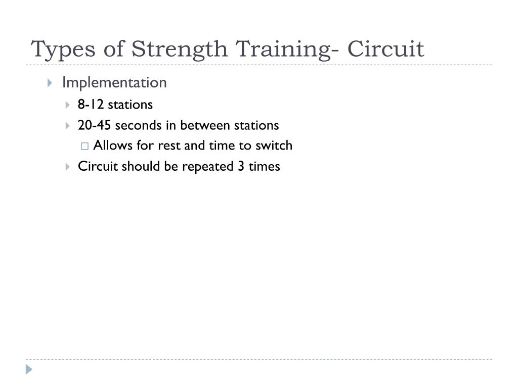Types of Strength Training- Circuit
