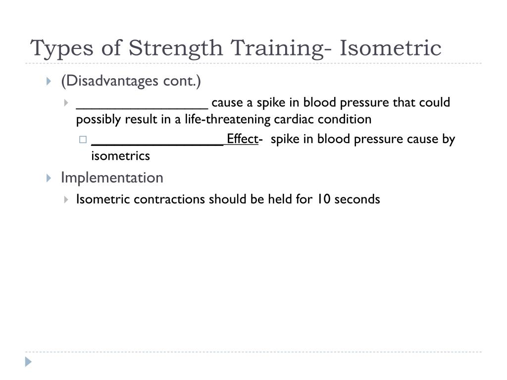 Types of Strength Training- Isometric