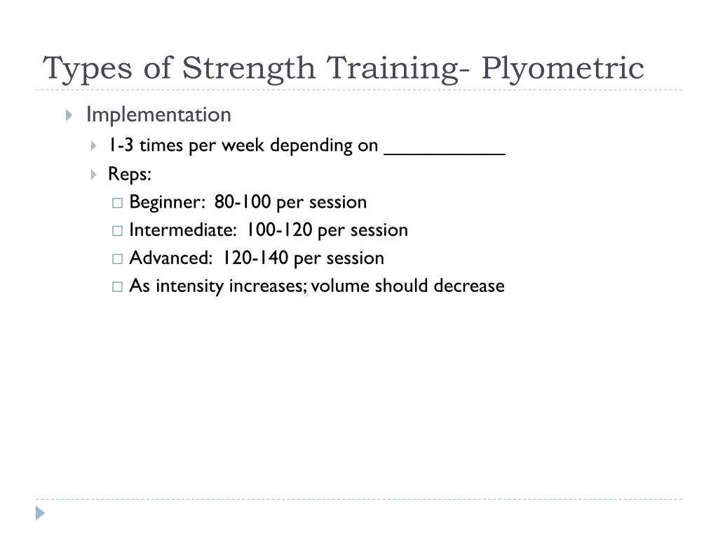 Types of Strength Training- Plyometric