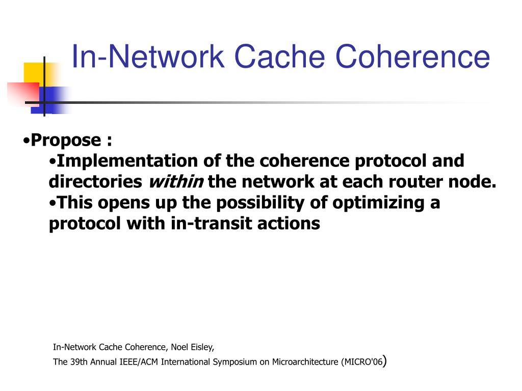 In-Network Cache Coherence