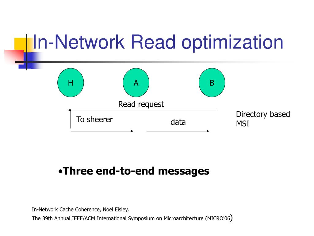 In-Network Read optimization