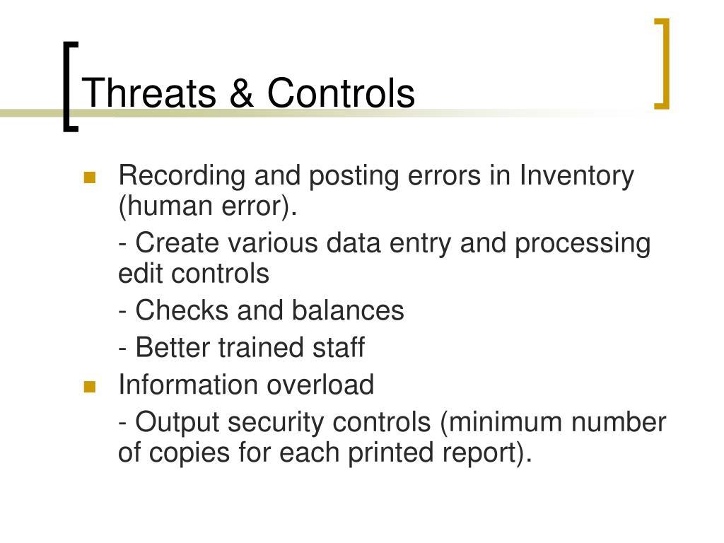 Threats & Controls