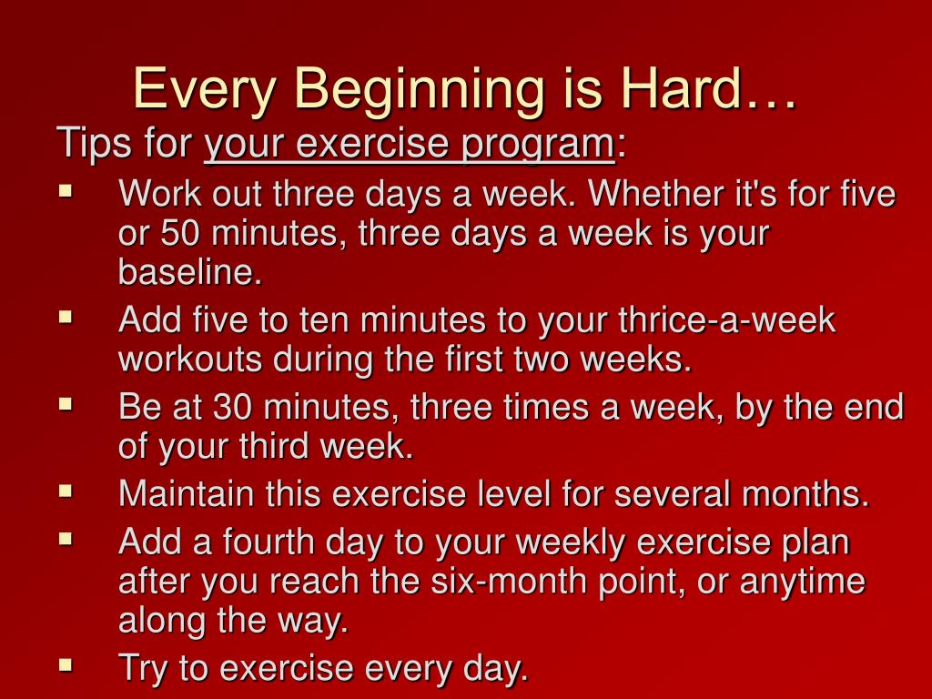 Every Beginning is Hard…
