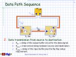 data path sequence