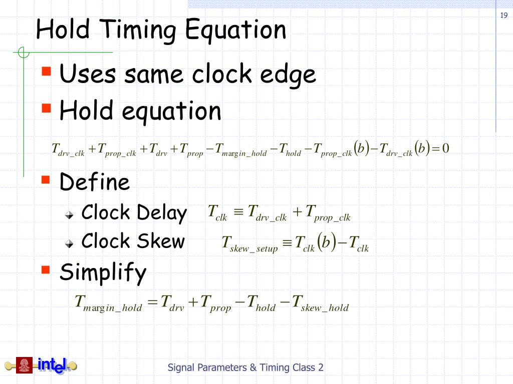Hold Timing Equation