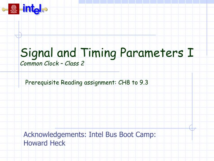 Signal and timing parameters i common clock class 2 l.jpg
