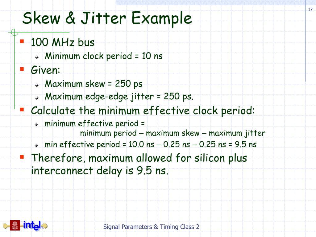 Skew & Jitter Example