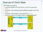 sources of clock skew