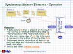 synchronous memory elements operation