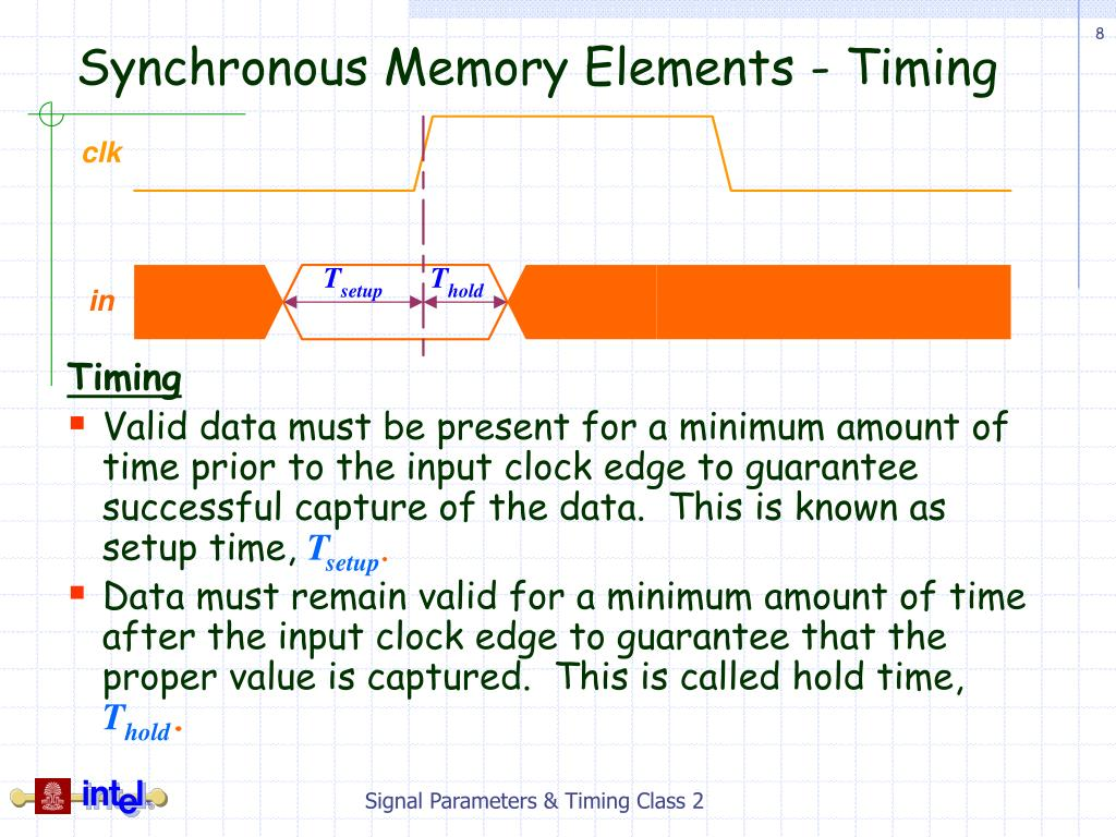 Synchronous Memory Elements - Timing
