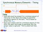 synchronous memory elements timing