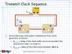 transmit clock sequence
