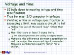 voltage and time