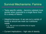 survival mechanisms famine