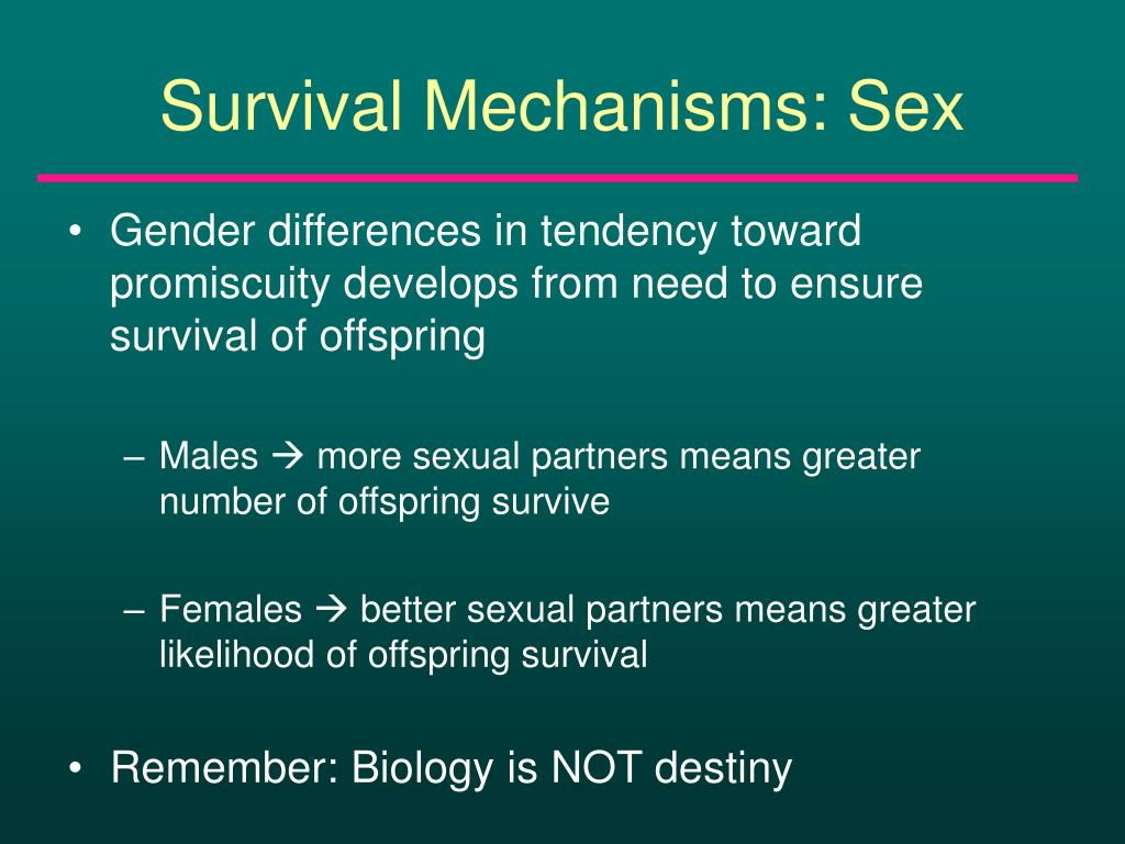 Survival Mechanisms: Sex