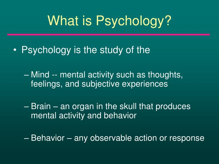 What is psychology l.jpg