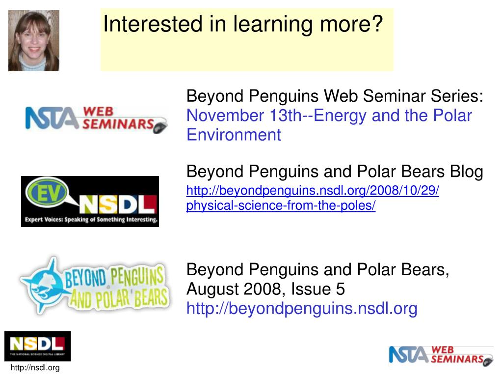 Beyond Penguins Web Seminar Series: