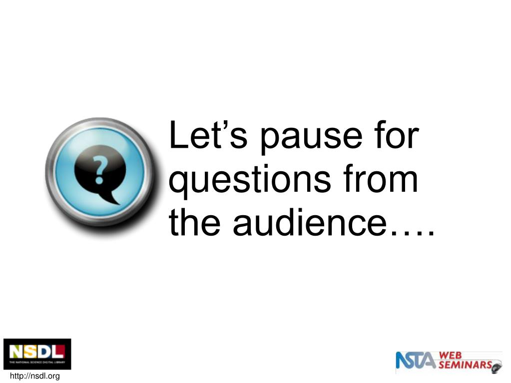 Let's pause for questions from the audience….