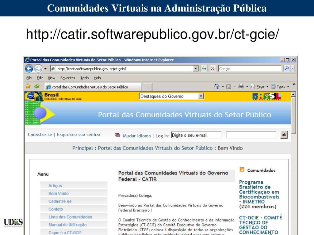 Comunidades Virtuais na Administração Pública