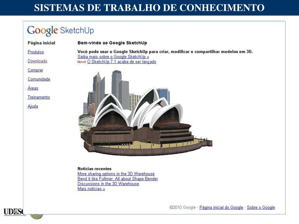 SISTEMAS DE TRABALHO DE CONHECIMENTO