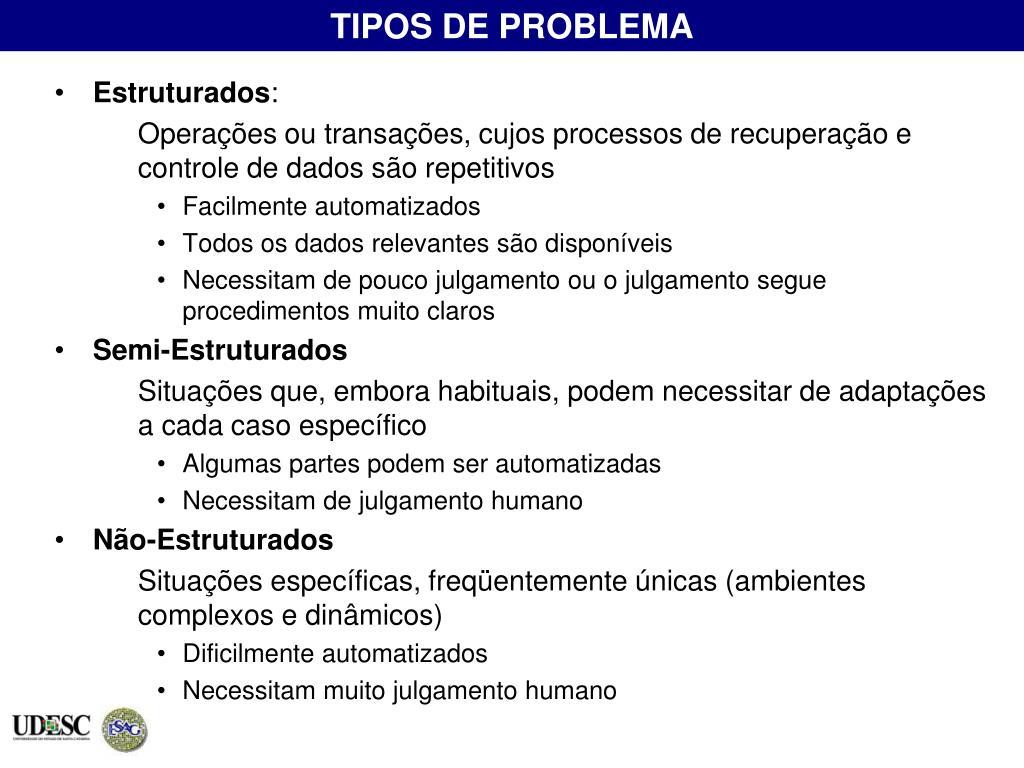 TIPOS DE PROBLEMA