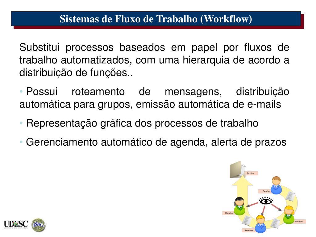 Sistemas de Fluxo de Trabalho (Workflow)