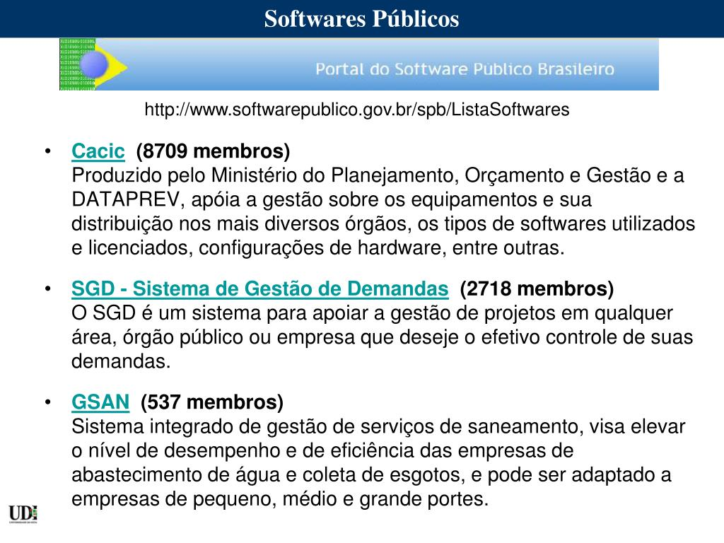 Softwares Públicos