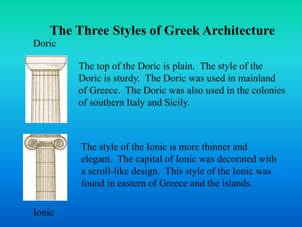 The Three Styles of Greek Architecture