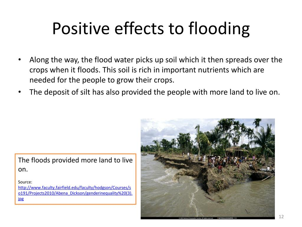 Positive effects to flooding