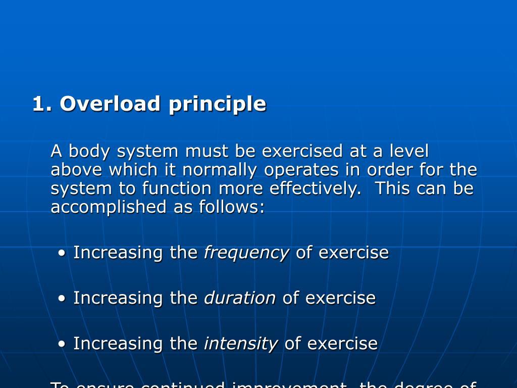 1. Overload principle