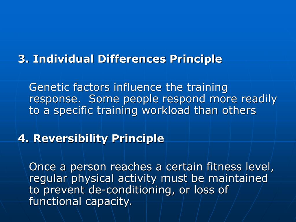 3. Individual Differences Principle