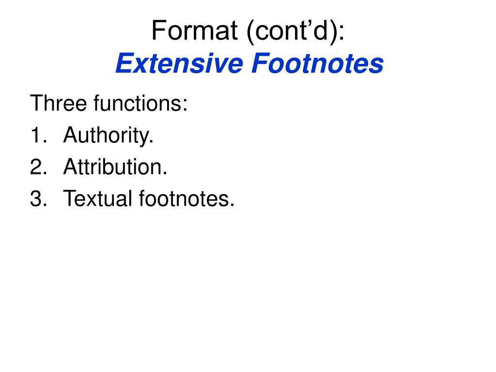 Format (cont'd):
