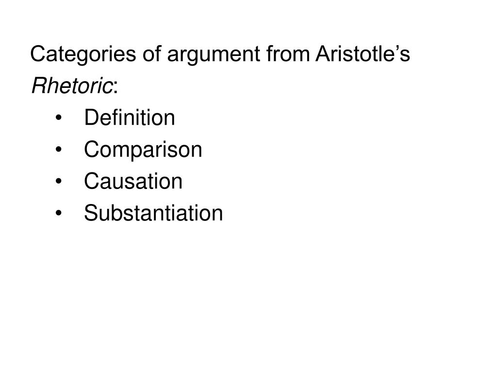 Categories of argument from Aristotle's