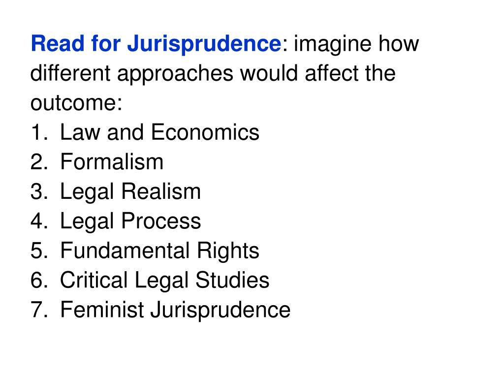 Read for Jurisprudence