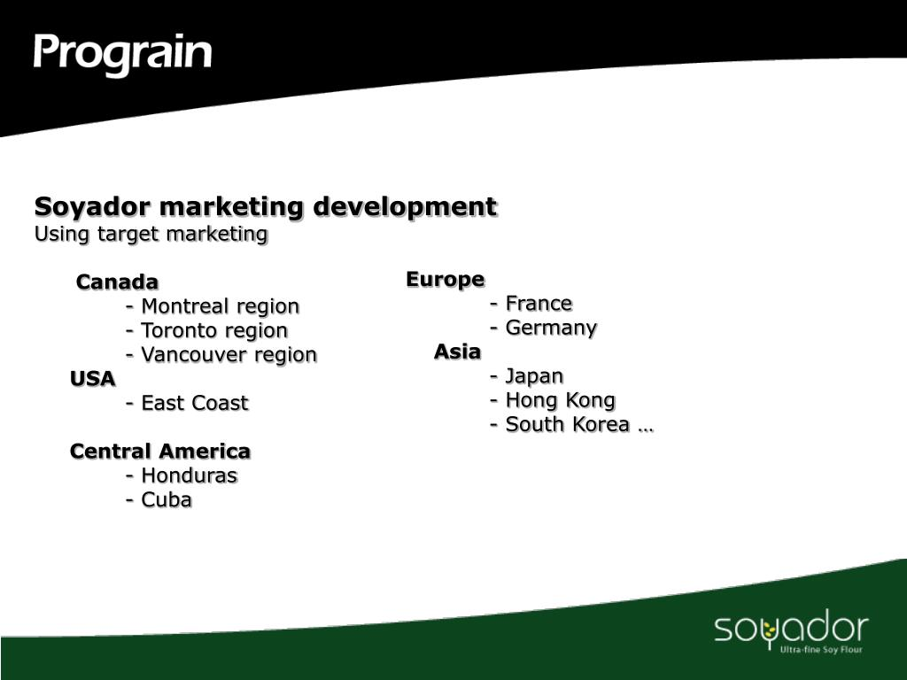 Soyador marketing development
