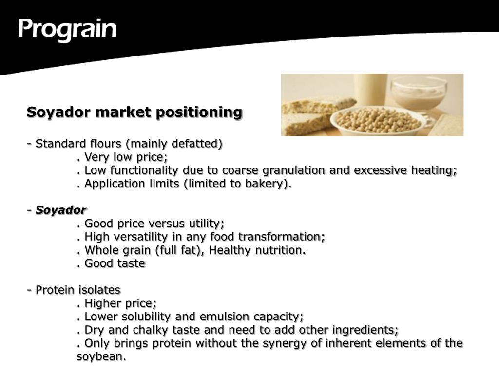 Soyador market positioning