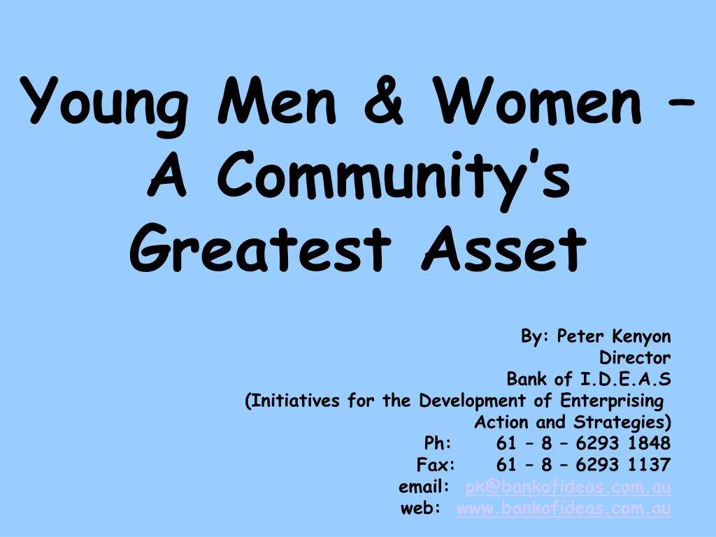 Young Men & Women – A Community's Greatest Asset